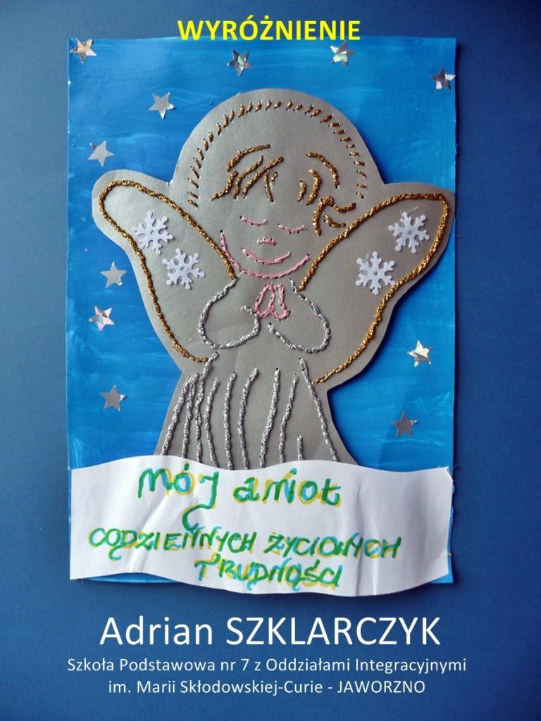 Adrian Szklarczyk - wyróżnienie